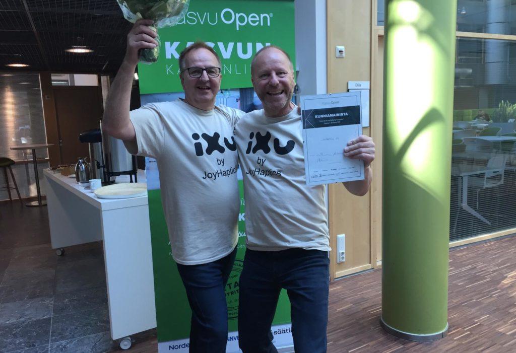 iXu AWARDED 2nd PLACE AT KASVU OPEN